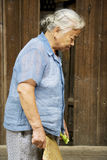 Elderly Chinese Lady at Daxu Stock Images