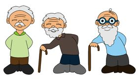 Elderly collection Royalty Free Stock Photography