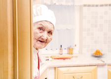 Elderly cook Royalty Free Stock Photo