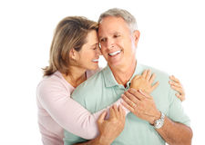Elderly couple royalty free stock images
