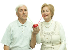 Elderly couple. Conceptual photography. Elderly couple  consists more than 40 years married Royalty Free Stock Photo