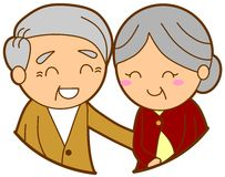 Elderly couple. This is an illustration of elderly couple Royalty Free Stock Photo