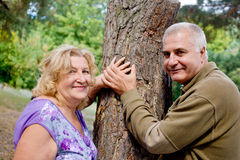 Elderly couple close-up Stock Photography