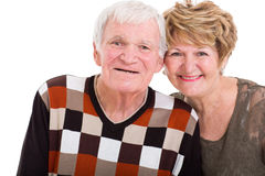 Elderly couple closeup Royalty Free Stock Image