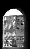 Elderly couple - Colosseum Stock Photo
