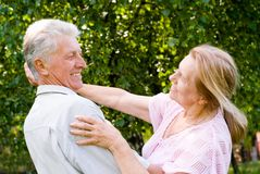 Elderly couple dance Stock Photography