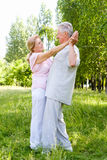 Elderly couple dance Royalty Free Stock Images