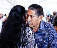 Elderly couple dancing Stock Images