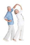 Elderly couple dancing Stock Photo