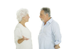 Elderly couple  disagreement Stock Photo