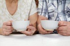 Elderly couple drinking tea Royalty Free Stock Image