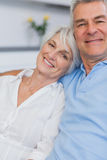 Elderly couple embracing Stock Image
