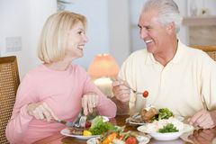 Elderly Couple Enjoying Healthy meal Royalty Free Stock Image