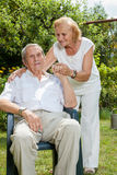 Elderly couple enjoying life together Royalty Free Stock Images