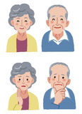 Elderly couple expression Stock Photo