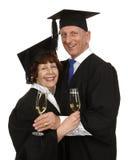 Elderly couple graduation Stock Images