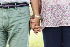 Elderly Couple Happiness Romantic Holding Hand Concept Stock Photo