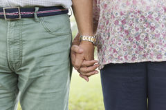 Elderly Couple Happiness Romantic Holding Hand Concept Royalty Free Stock Photography