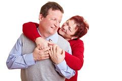 Elderly couple having fun Stock Image