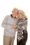 Elderly couple heads together smile Royalty Free Stock Photos