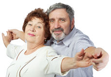Elderly couple holding hands Royalty Free Stock Photography