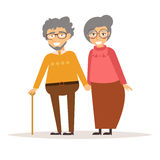 Elderly couple holding hands. Stock Photo