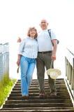 Elderly couple in love stock image