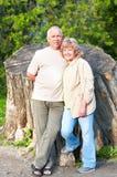 Elderly couple in love stock photography