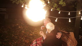 Elderly couple in love. HD stock video footage