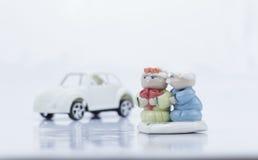 Elderly couple models  Isolated Stock Image