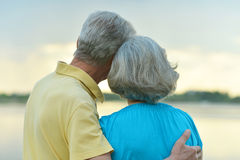 Elderly couple in nature Royalty Free Stock Photo