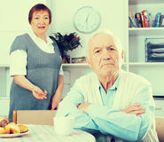 Elderly couple offense Royalty Free Stock Photography