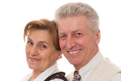 Elderly couple  in the office Royalty Free Stock Image