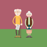 Elderly couple - old man and old woman stand together. Elderly couple - grandfather and grandmother or just an old man and old woman stand together Royalty Free Stock Photography