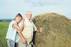 Elderly couple outdoor Stock Images