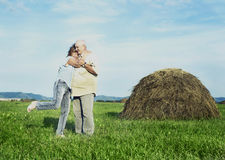 Elderly couple outdoor Royalty Free Stock Image