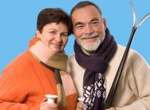 Elderly couple portrait Stock Images