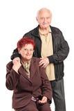 Elderly couple posing together Royalty Free Stock Image