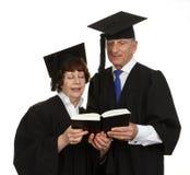 Elderly couple reading Royalty Free Stock Image