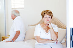 Elderly couple relationship problem Royalty Free Stock Image