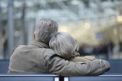 Elderly couple relaxing Royalty Free Stock Photos