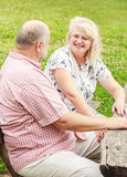 Elderly Couple relaxing Royalty Free Stock Image