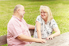 Elderly Couple relaxing Royalty Free Stock Photography