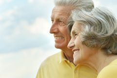 Elderly couple relaxing Stock Images
