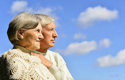 Elderly couple relaxing Stock Photography