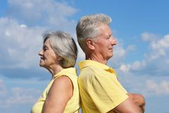 Elderly couple relaxing Royalty Free Stock Photos