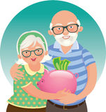 Elderly couple retired Stock Image