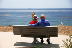 Elderly couple at sea Stock Photos