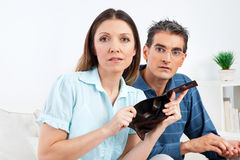 Elderly couple showing empty wallet Stock Images