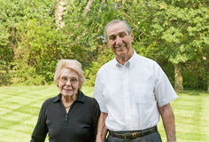 Elderly Couple Smiling Royalty Free Stock Photography
